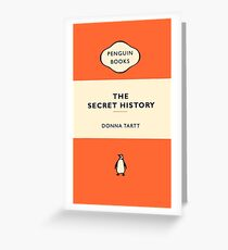 Penguin Book The Secret History Greeting Card