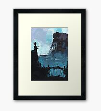 The temple ruins Framed Print