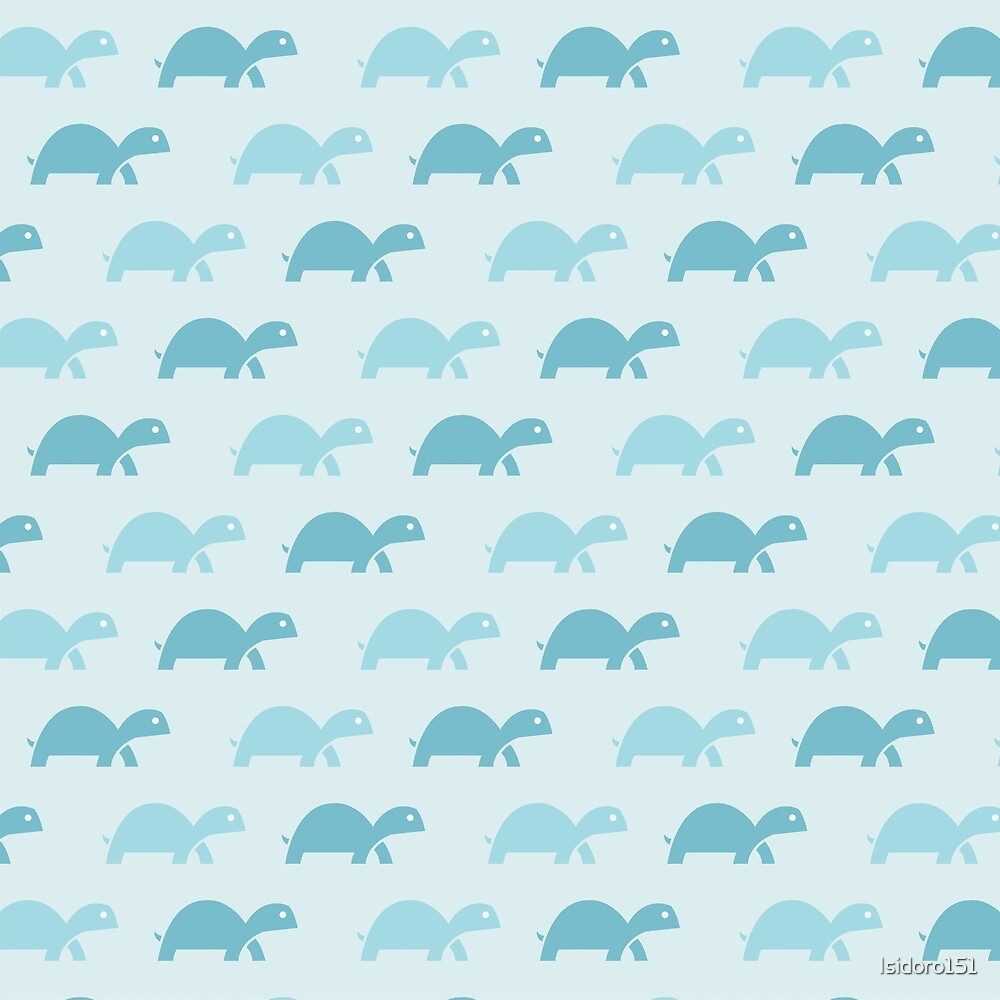 Pattern Turtles Blue by Isidoro de la Rosa