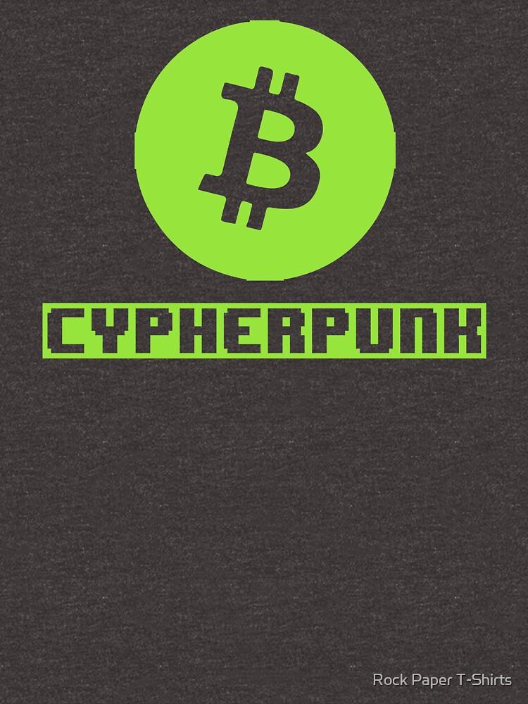Cypherpunk Bitcoin (green) by rockpapershirts