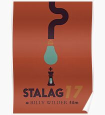 Stalag 17, Billy Wilder minimal movie poster, war film, classic hollywood masterpiece, german wwII, nazi, cinema Poster