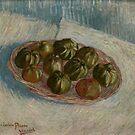 Original Vincent Willem van Gogh Impressionist Art Painting Restored Basket of Apples by jnniepce