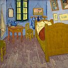 Original Vincent Willem van Gogh Impressionist Art Painting Restored Bedroom by jnniepce