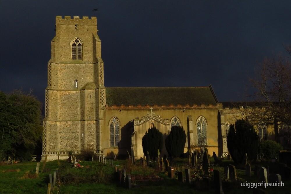St Mary's Church Buxhall, Suffolk by wiggyofipswich