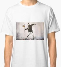 Rage, Flower Thrower, Banksy  Classic T-Shirt