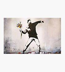 Rage, Flower Thrower, Banksy  Photographic Print