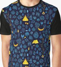 Glamping - Navy Graphic T-Shirt