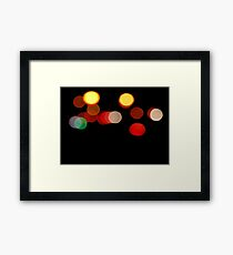 CAR LIGHTS AT NIGHT- Cool Graphic  Framed Print