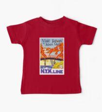 Vintage Japan T-Shirt Visit Japan Retro Travel Poster Baby Tee