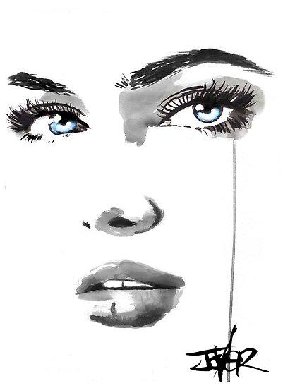 face #222 by Loui  Jover