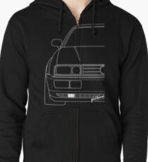 Corrado shirt silhouette contour drawing Zipped Hoodie