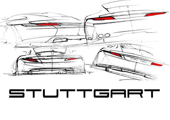 Stuttgart Design Sketch by tfmotorworks