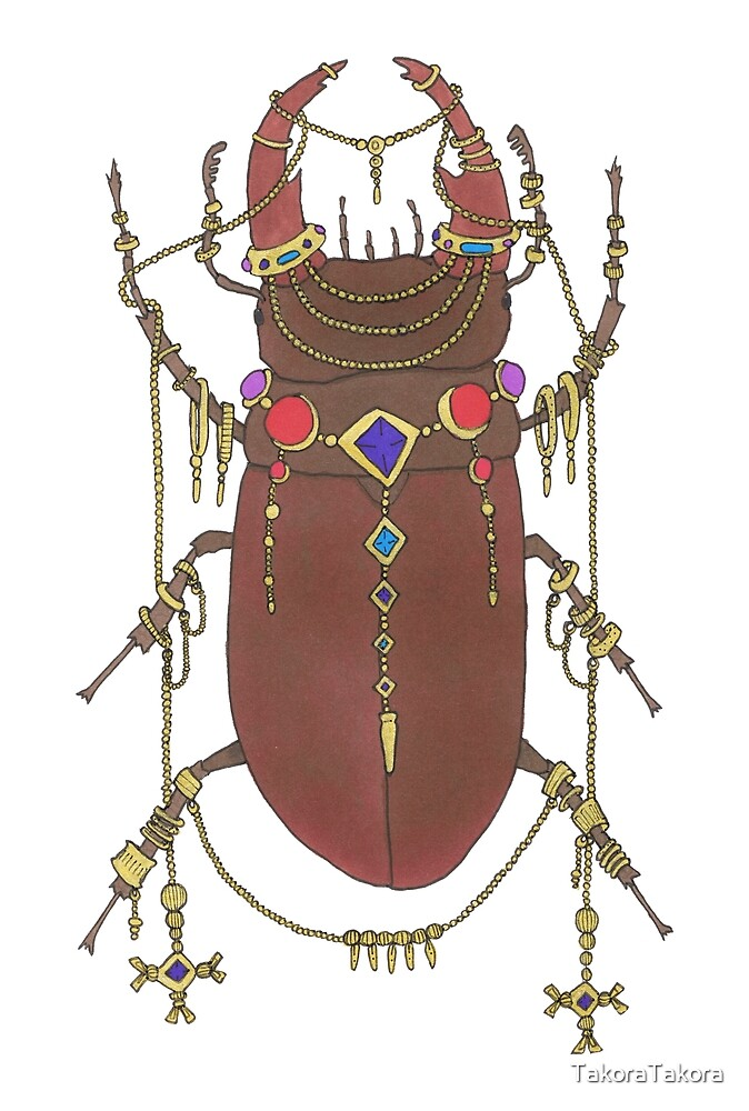 One Fancy Stag Beetle  by TakoraTakora
