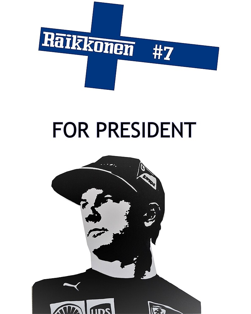 #kimi4president by F1Exclusive