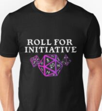 Roll For Initiative - DM - D20 Dungeons & or dragons Master Unisex T-Shirt