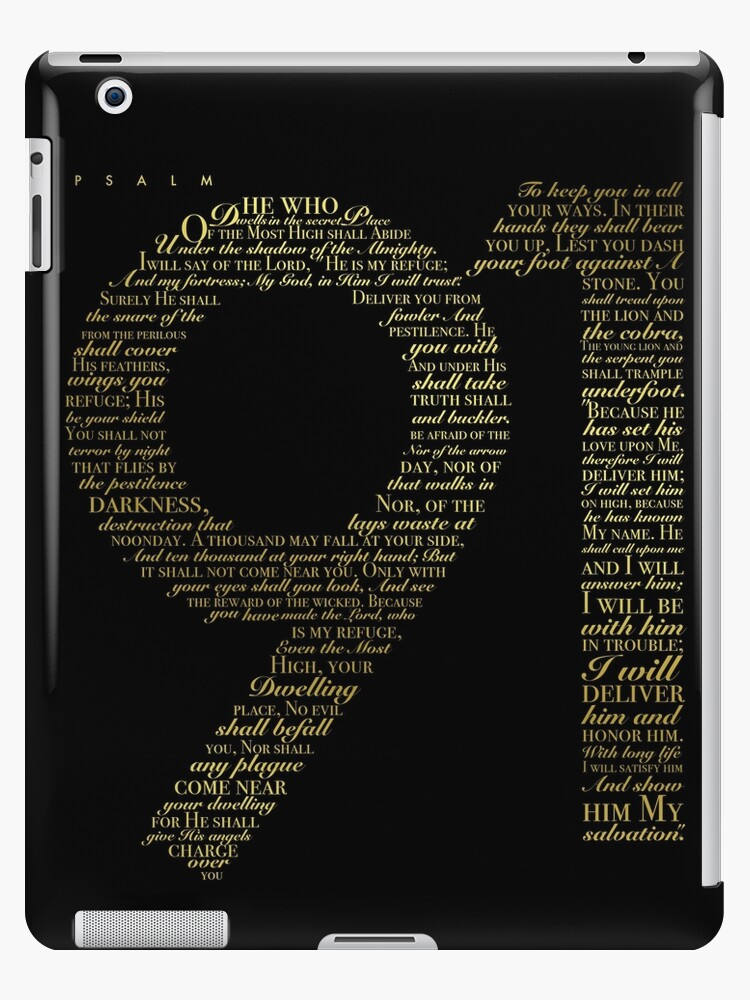 'Psalm 91 - Black and Gold' iPad Case/Skin by ACAmes