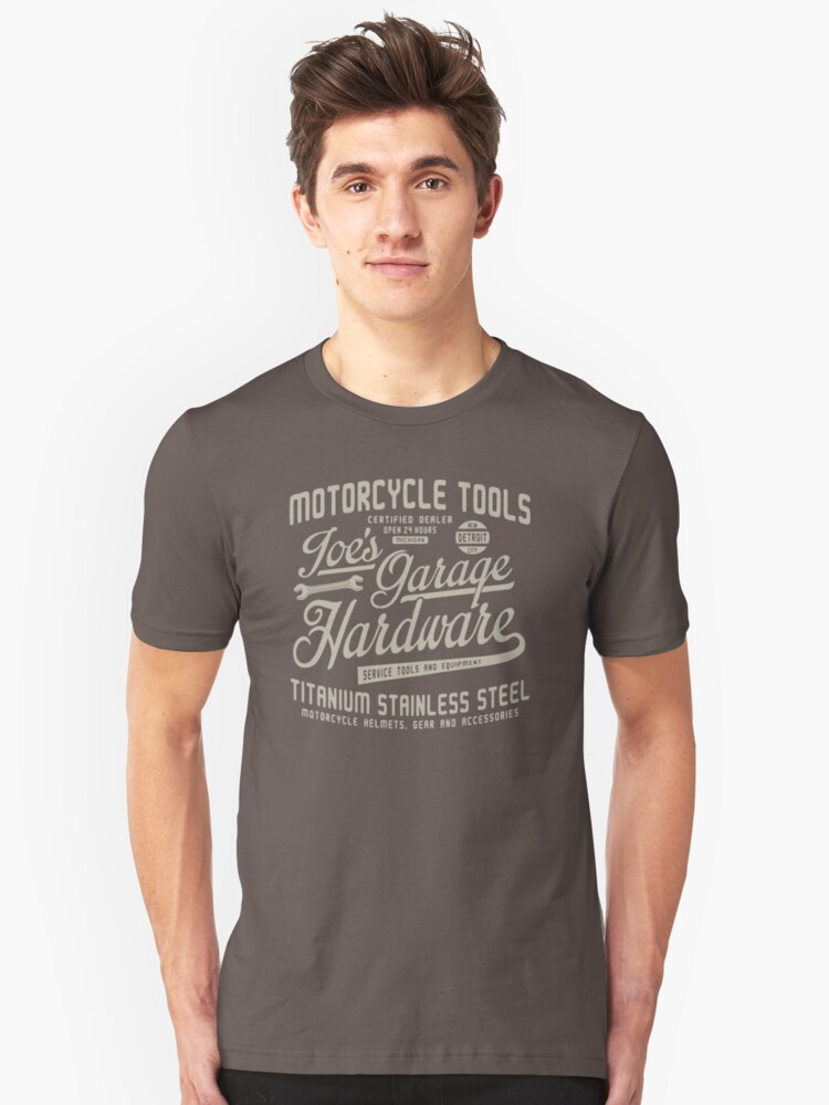 Motorcycle Tools Goes Grage Hardware TS18 New Product Unisex T-Shirt Front