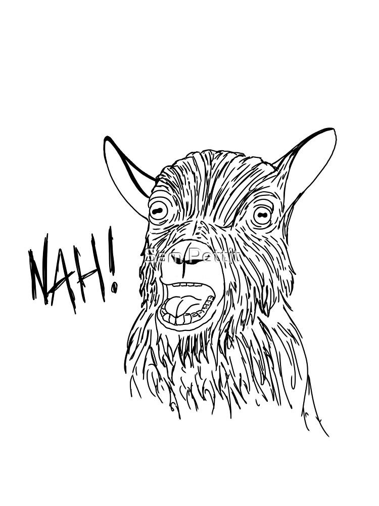 Goat says Nah! by Sam Pettit