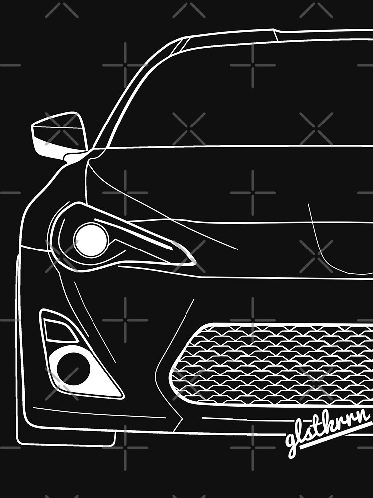 GT86 shirt silhouette contour drawing by glstkrrn