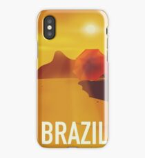 Brazil travel poster iPhone Case