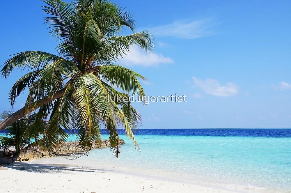 Maldives Beach Beautiful Tropical Ocean Water by lukedwyerartist