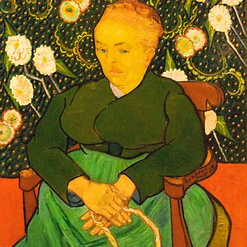 Original Vincent Willem van Gogh Impressionist Art Painting Restored La Berceuse 1889 by jnniepce