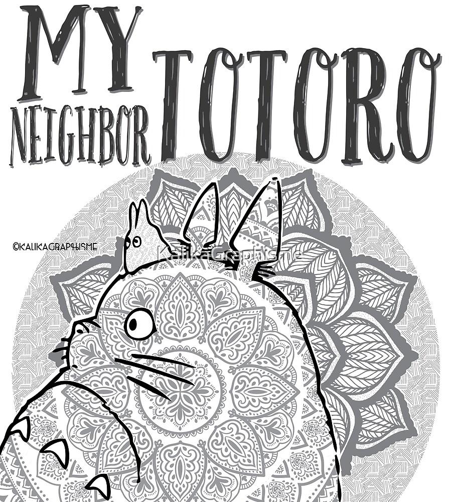 Flowers Totoro by KalikaGraphisme