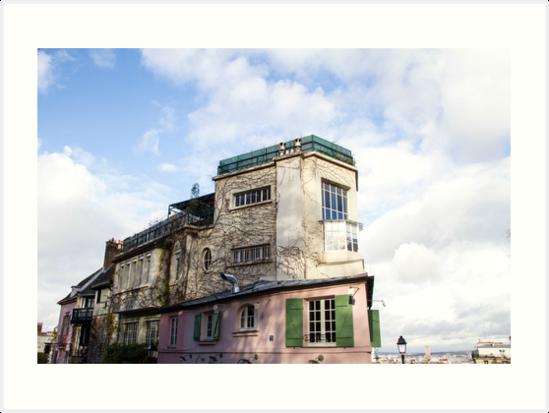 Living in Paris by FlatLandPrints
