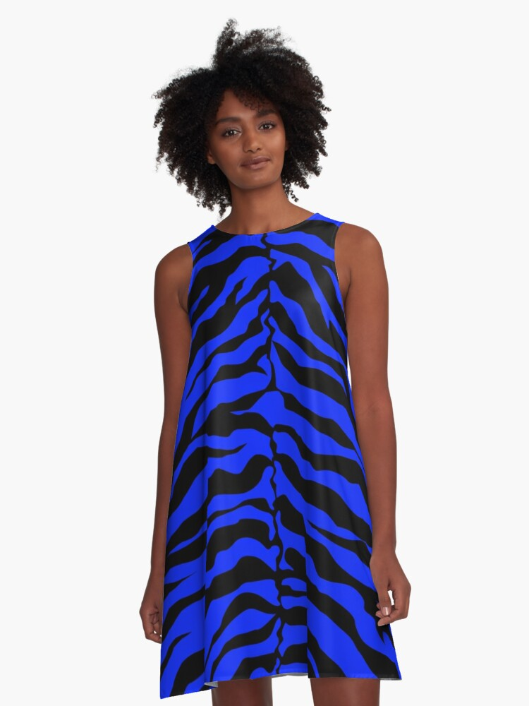 Animal Print - Tiger Pattern A-Line Dress Front