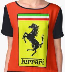 Ferrari Logo Chiffon Top