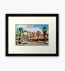 Vintage Palm Springs Greetings Framed Print