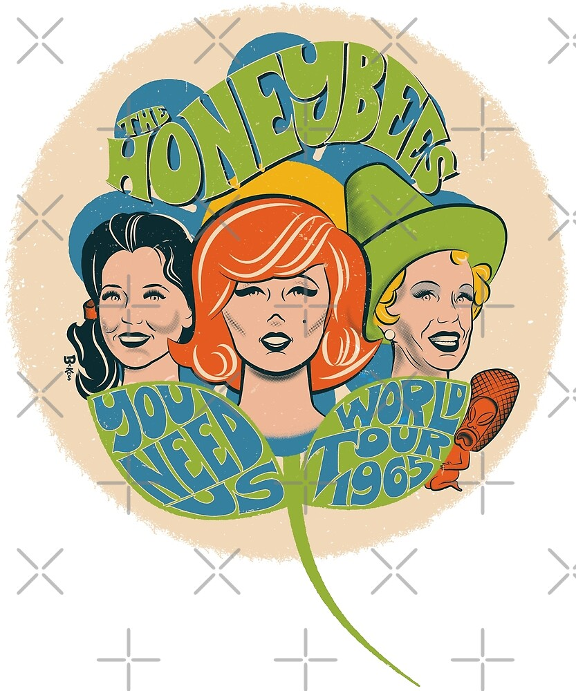 The Honeybees World Tour 1965 - faded version by GraficBakeHouse