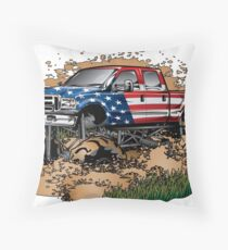 Mud Truck USA Mudder Bogging Throw Pillow