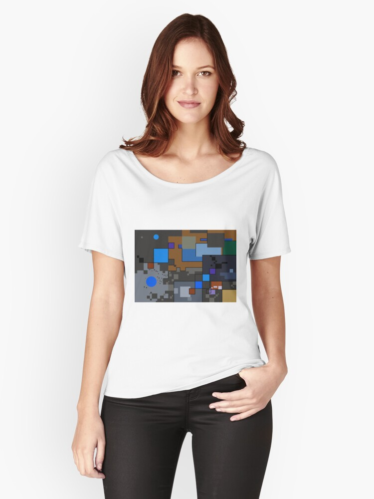 Abstract Geometric Creation V Women's Relaxed Fit T-Shirt Front
