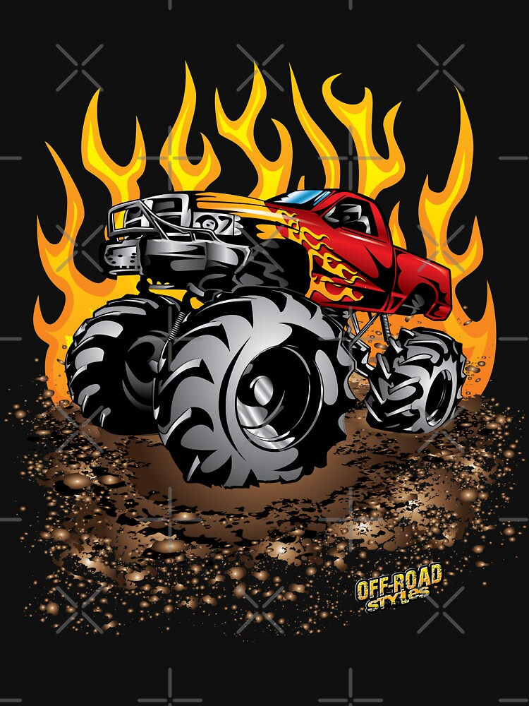 Mud Truck Mega Fire Flames by offroadstyles