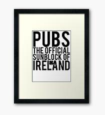 Pubs Irelands Sunblock Framed Print