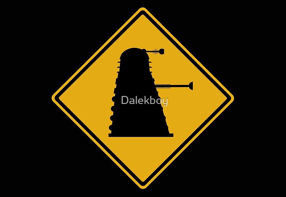 Dalek 1963 Silhouette Road Sign by Dalekboy