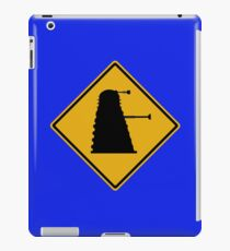 Dalek 1963 Silhouette Road Sign iPad Case/Skin
