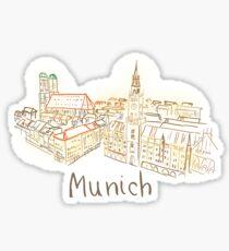 Munich Panorama at night Sticker