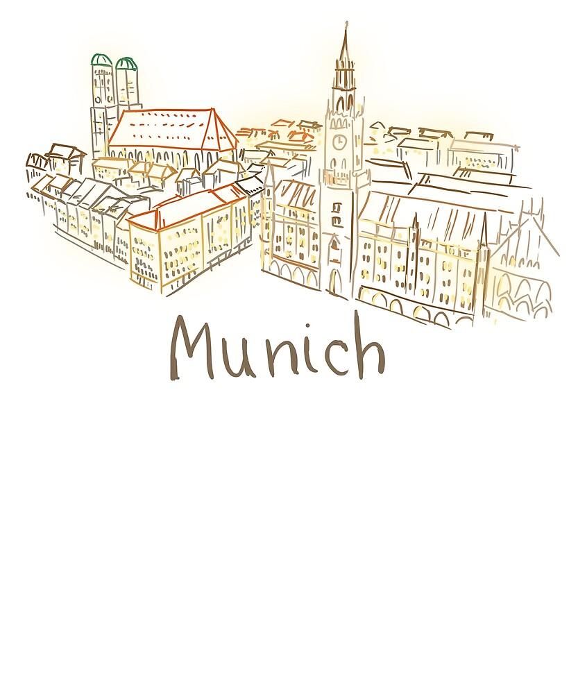 Munich Panorama at night by MichaelRellov