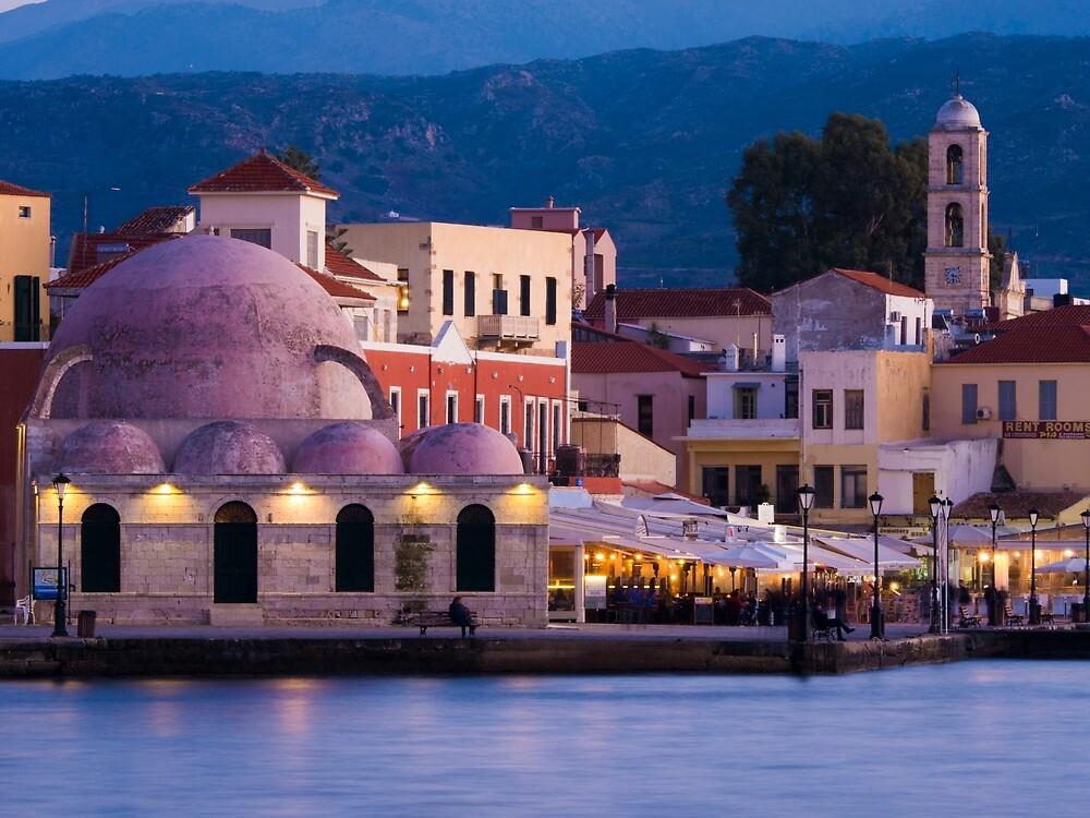 Venetian Harbour in Chania by Rae Tucker