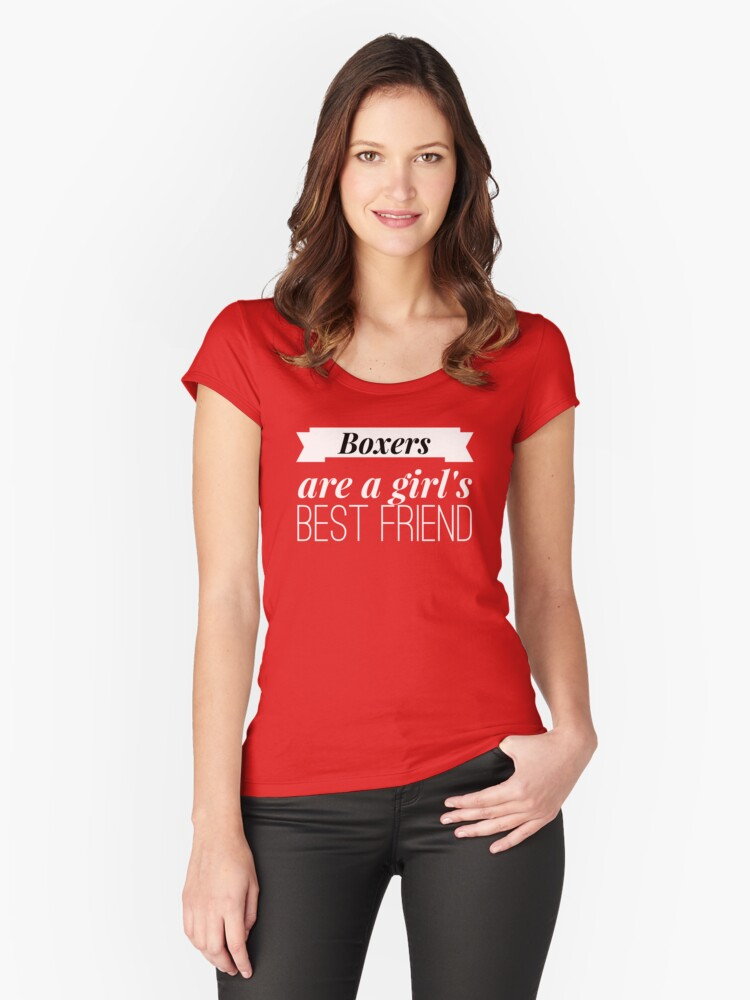 Boxer Girl Women's Fitted Scoop T-Shirt Front