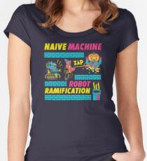 Naive Machine  Robot Ramification GA581 New Product Women's Fitted Scoop T-Shirt