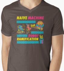 Naive Machine  Robot Ramification GA581 New Product Men's V-Neck T-Shirt