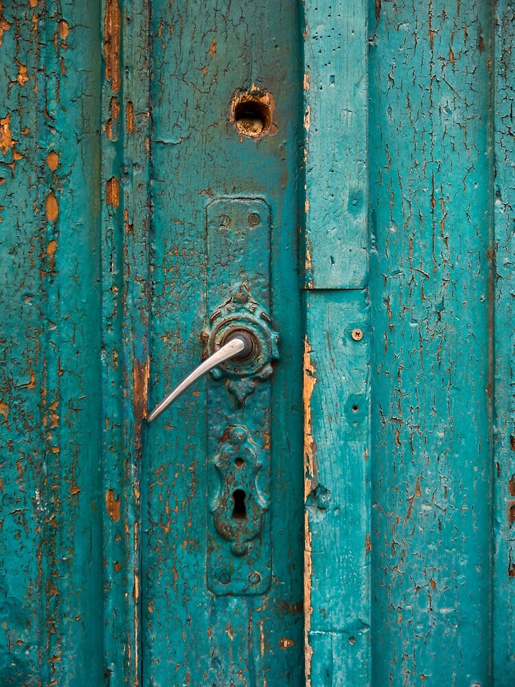 Turquoise Colored Door by Rae Tucker