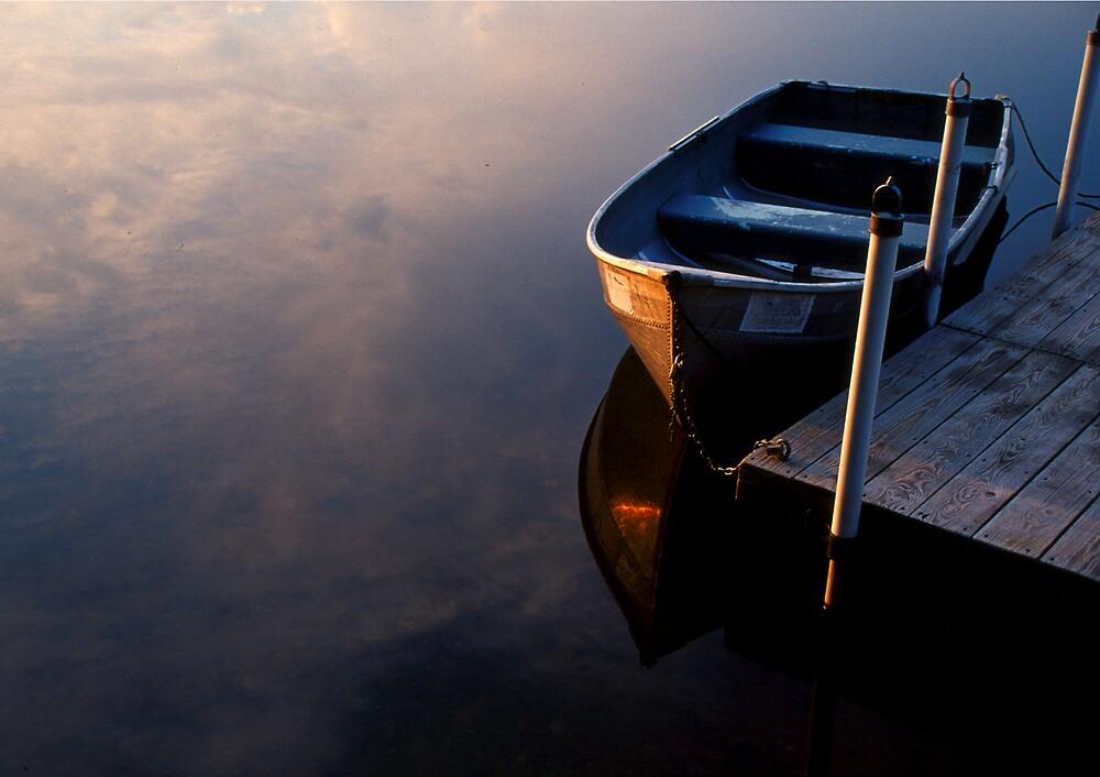 Boat, Lake Joseph, Catskills, New York by fauselr