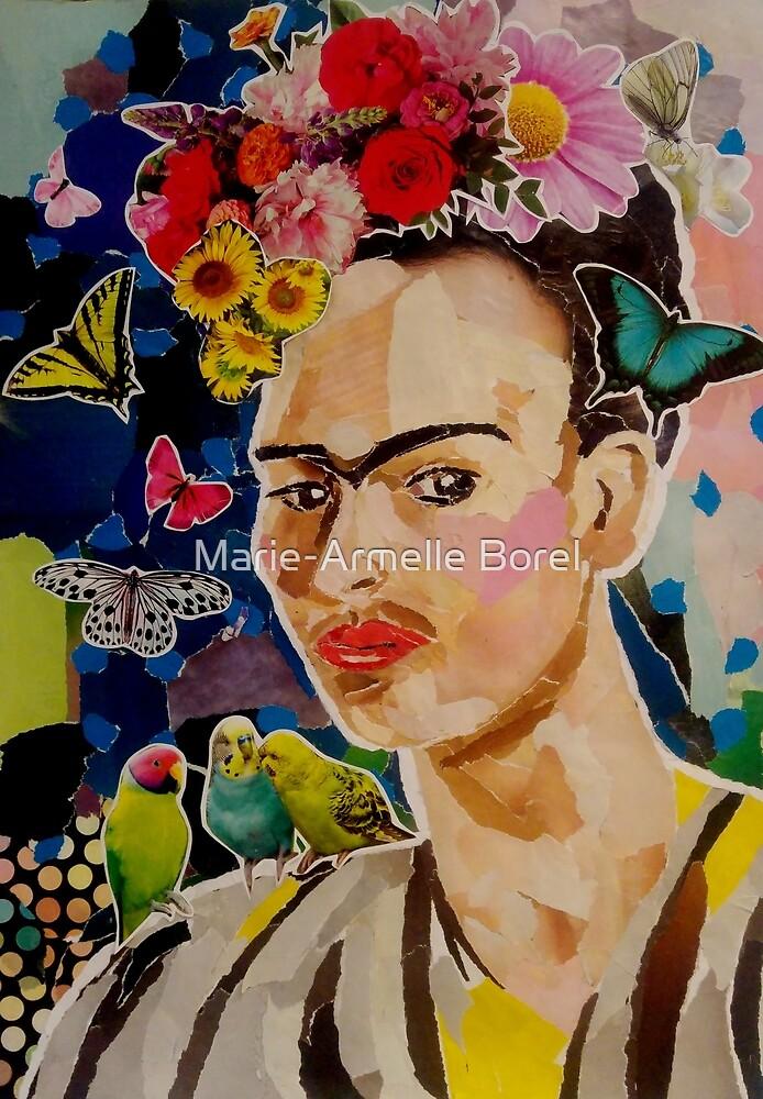 Frida Kahlo portrait of a self-portrait by Marie-Armelle Borel