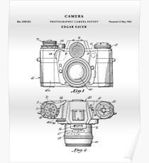 Camera Patent Drawing Blueprint Poster