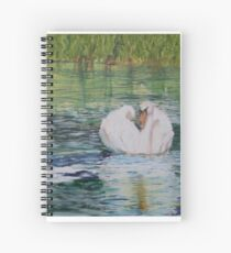 River Nene Swan Spiral Notebook