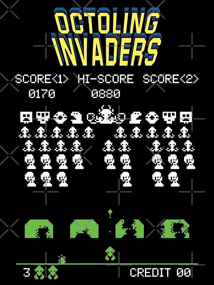 octoling invaders! splatoon by Ashley Castleton